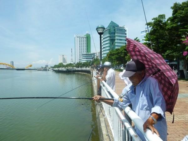 câu cá ven sông Hàn Đà Nẵng