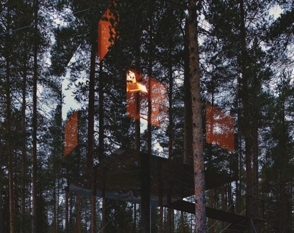 khách sạn trên cây ở thụy điển