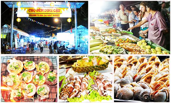 Thưởng thức hải sản ở chợ đêm Dinh Cậu