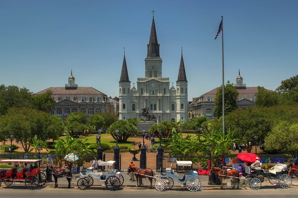 St. Louis Cathedral & Jackson Square - New Orleans, Louisiana - May 18, 2011