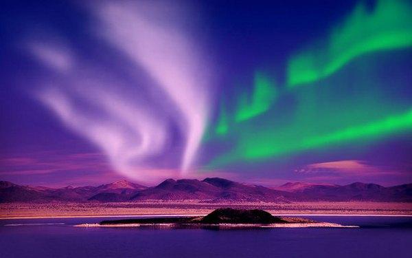 Cảnh tượng độc đáo chỉ xuất hiện khi cực quang xuất hiện