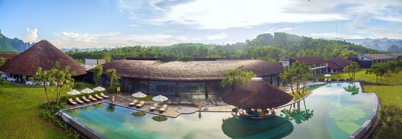 Khu tắm khoáng nóng tại Serena Resort Kim Bôi Hào Bình